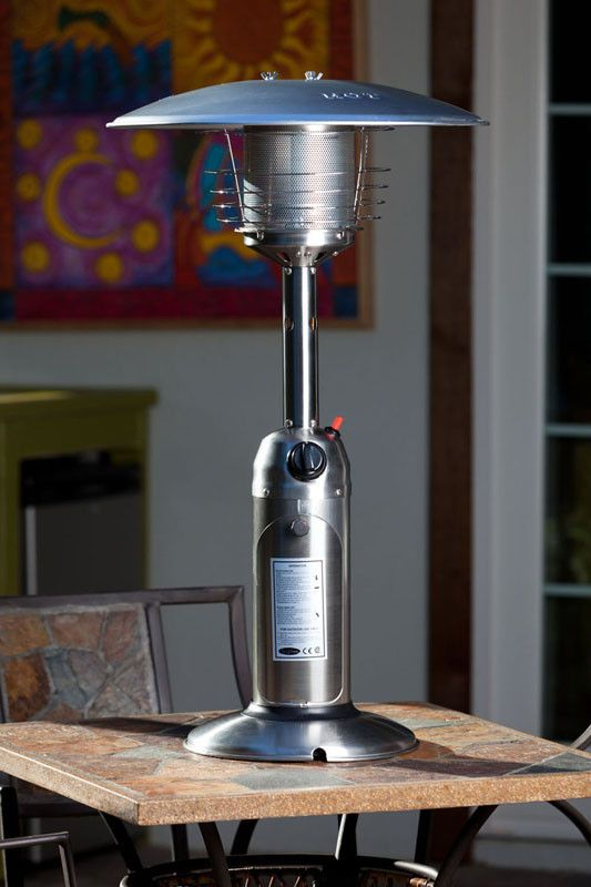 Well Traveled Living 60262 Stainless Steel Table Top Patio Heater