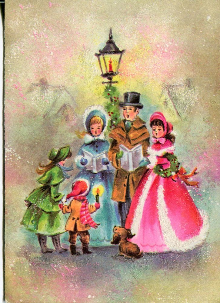 335 best Old Christmas Post Сards — Christmas Carolers images on ...