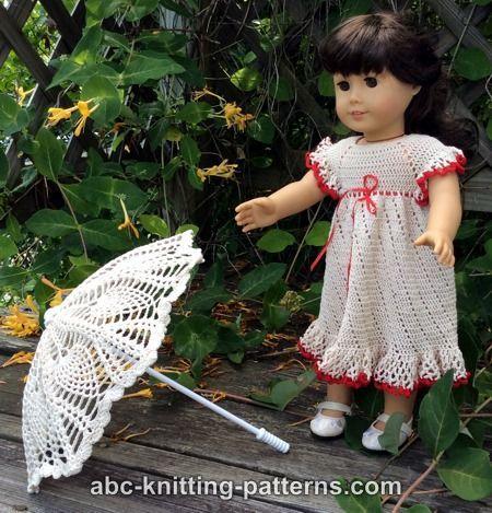ABC Knitting Patterns - American Girl Doll Parasol