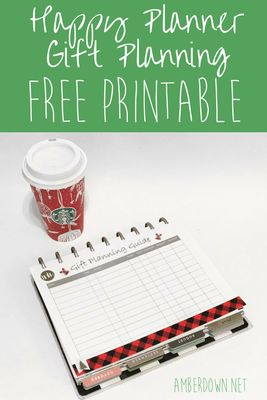 Free Gift planner printable for the Happy Planner. Perfect for Christmas/holidays. AmberDowns.net