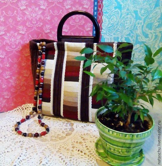 Купить Сумка стеганная - коричневый, сумка ручной работы, сумка женская, сумка на каждый день