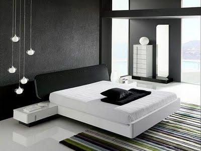 Con que colores combina una pared negra en dormitorios