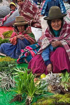 Peru, Santuranticuy market is held in the main square of Cusco once a year on Christmas eve.