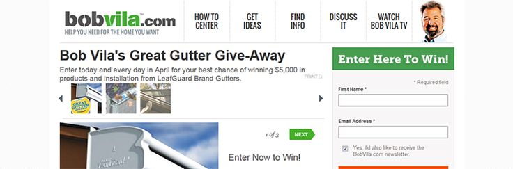 Bob Vila's Great Gutter Give-Away from LeafGuard