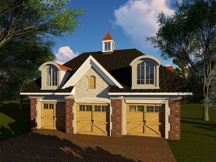 Best 25 3 car garage plans ideas on pinterest 3 car for 3 car garage with loft
