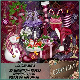 """CCDesigns: New In Store's """"CU Holiday Mix 3"""""""