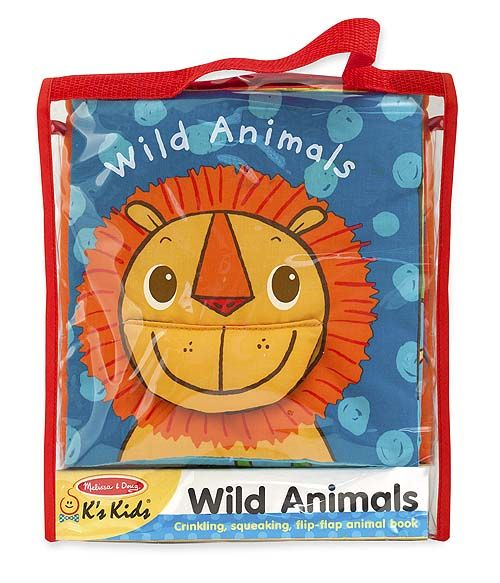 soft activity bookwild animals whos in the jungle grasp and turn the