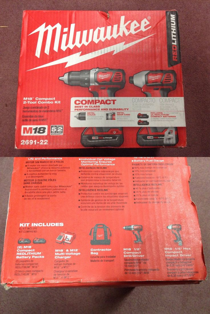 Cordless Drills 71302: New - Milwaukee M18 18V Cordless Drill Driver Impact Driver Combo Kit (2691-22) -> BUY IT NOW ONLY: $155 on eBay!
