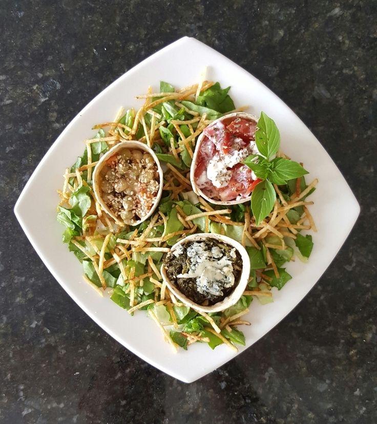 Para hoy una expectacular ensalada con lechuga espinacas capresa! wow que delicia! #planetpura #ensalada #sigueme #followme