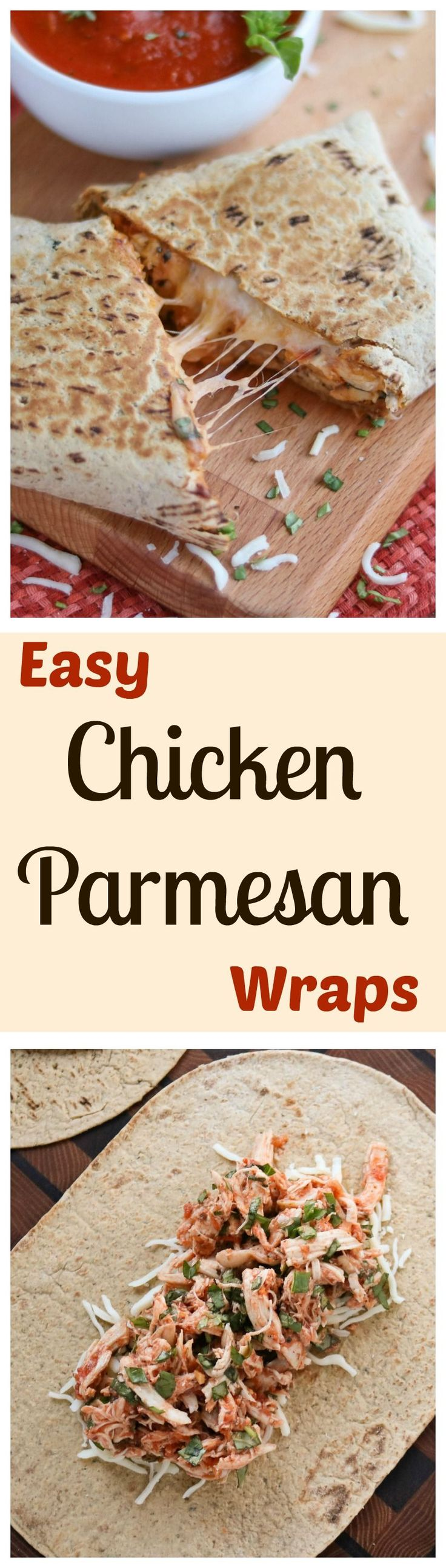 These Easy Chicken Parmesan Wraps are a super-fast, 15-minute meal! Make them…