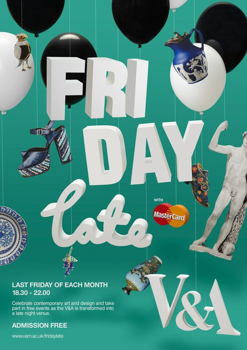 I was recently commission by the good folks over at the V&A to create the poster for their monthly event called Friday Late. I worked wi...