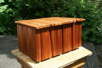 Doos van losse planken mahonie