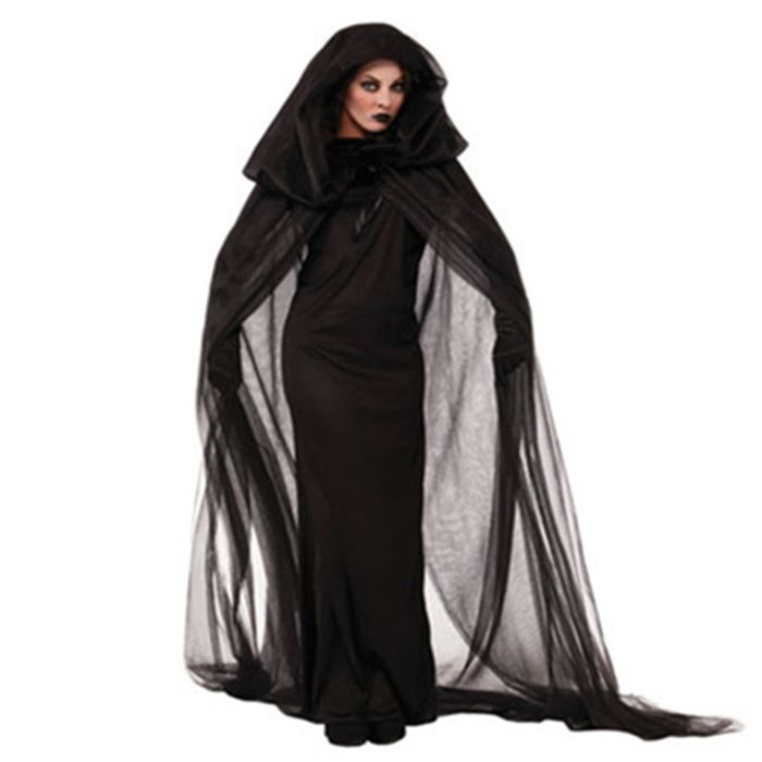 Cosplay Halloween Costume Adult Cloak Clothes Nightclub Dance Stage Performance Suit Caribbean men Womens wizard Witch Costume