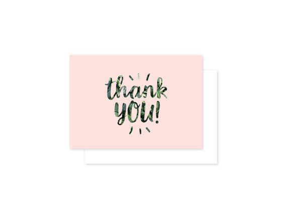 Thank you celebration card by ithinkcreative on Etsy