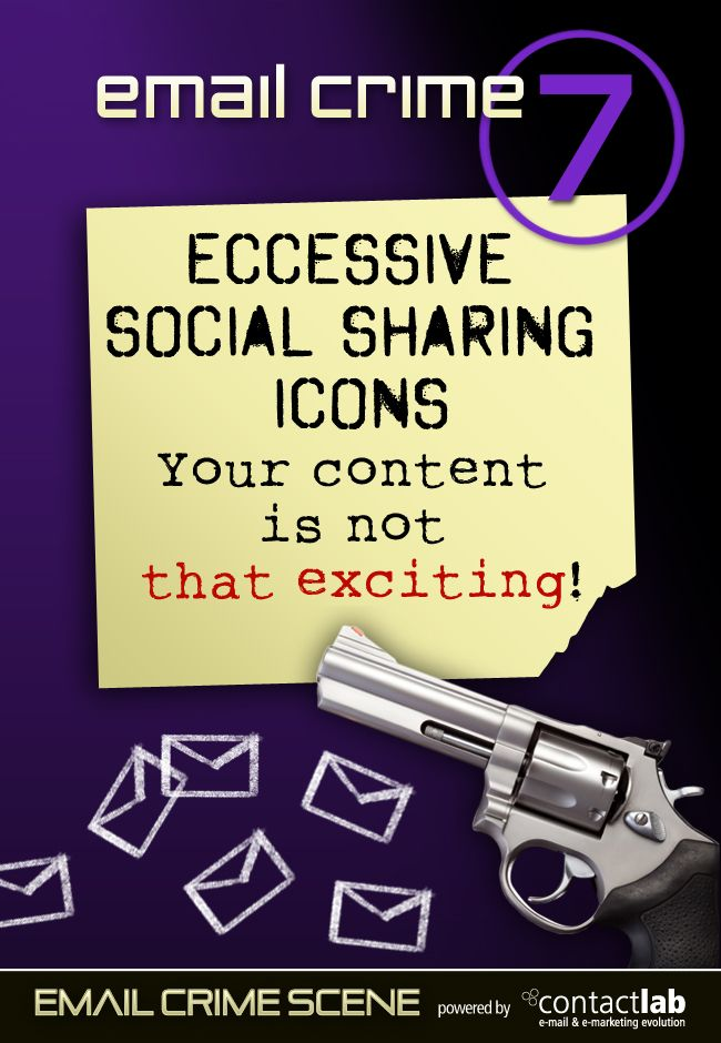 ECCESSIVE SOCIAL SHARING ICONS Your content is not that exciting!