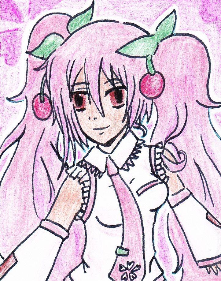 A drawing of the #vocaloid #sakura #miku