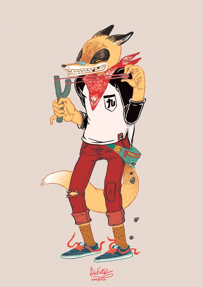 Character Design London : Rascal fox personal work this one was prepered as