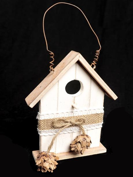 Rustica Wooden Hanging Birdhouse Decoration