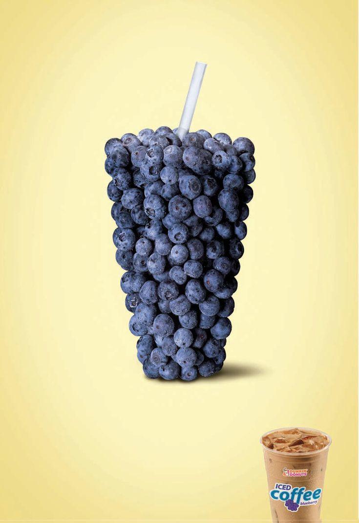 Dunkin' Donuts iced coffee: Blueberry, #marketing #coolads #advertising <<< repinned by www.BlickeDeeler.de