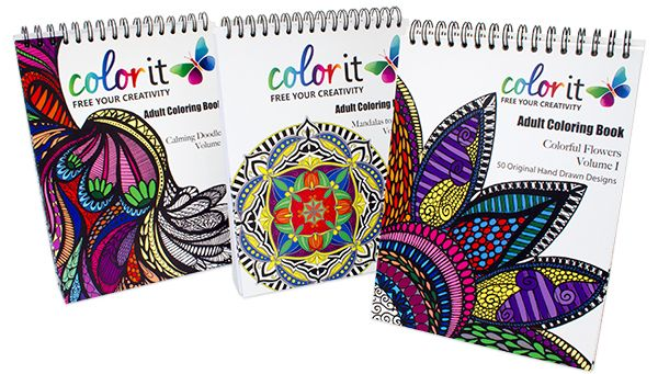 ColorIt is giving away a set of 3 coloring books each day in February. The following are included: Calming Doodles, Colorful Flowers, and Mandalas.We are also running a special to purchase this set for just $39.99 during the month of February, that's 20% off the normal price of $47.97! Don't forget, by placing any order on ColorIt.com it will earn you 75 additional entires!