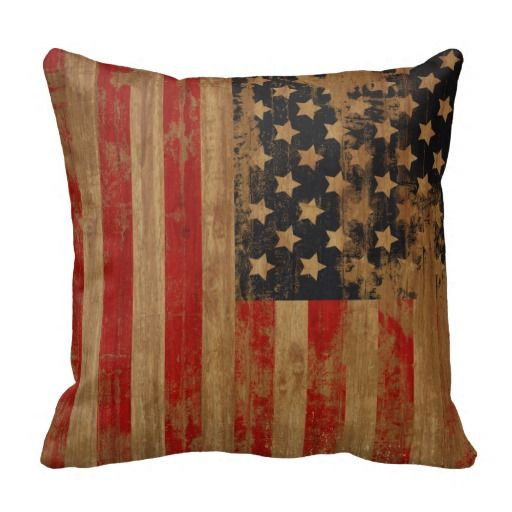 Vintage American Flag Pillows.  $29.95