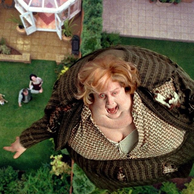 """As to what finally becomes of Aunt Marge, actress Pam Ferris said, """"I think she becomes a satellite or possibly another moon and people will say, """"Ah, there's a lovely Marge out tonight!"""" #HarryPotter"""
