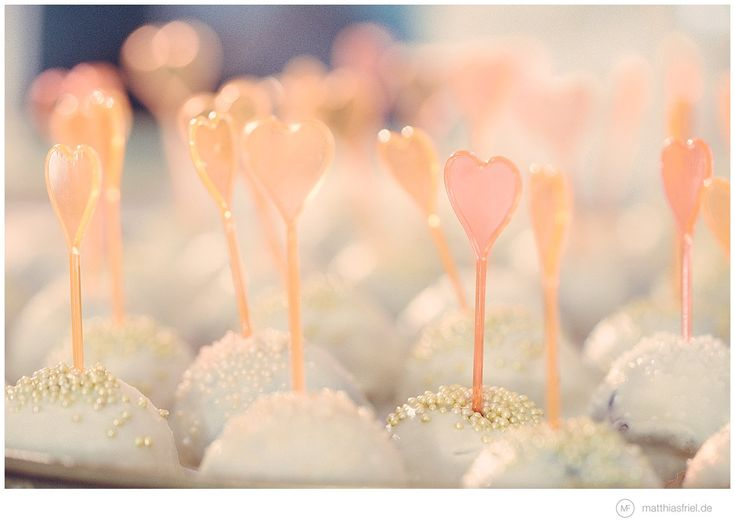 great candy pops and heart-shaped sticks. great for a reception