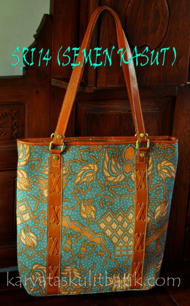 Tas Kulit Batik SRI 14 (tote bag) Semen Kasut
