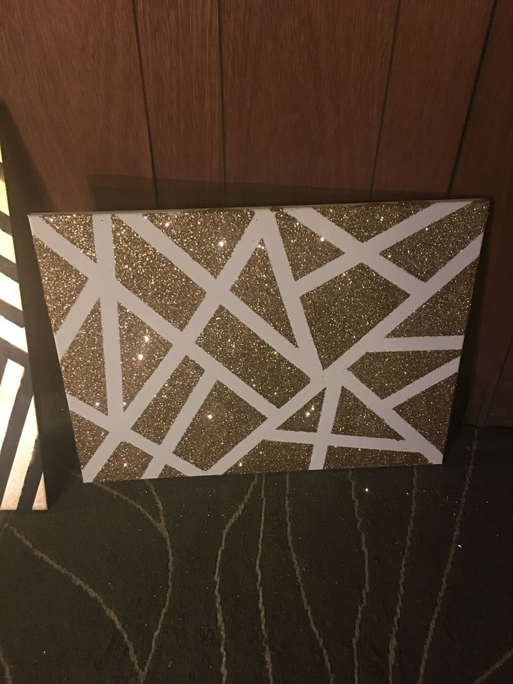 Best 25 glitter canvas ideas on pinterest glitter paint for Tape painting on canvas