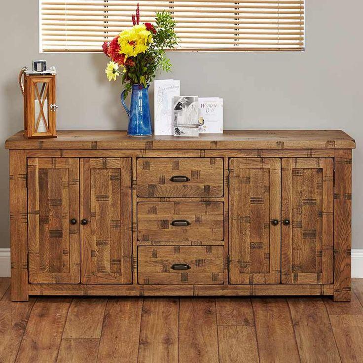 Heyford Rough Sawn Oak Large Sideboard -  - Sideboard - baumhaus - Space & Shape - 1