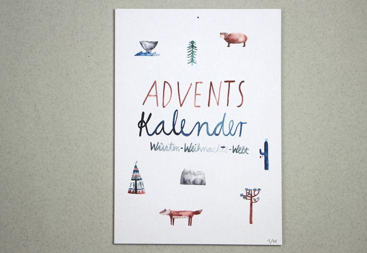 Adventskalender - Limitierter Adventskalender - ein Designerstück von gretasschwester bei DaWanda