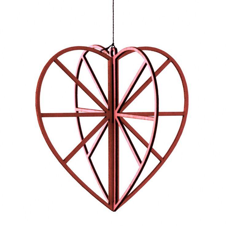 Valona design Birch Crystals -Red Heart. MadeBy: Koivukristalli -Pieni Sydän, punainen www.valona.fi