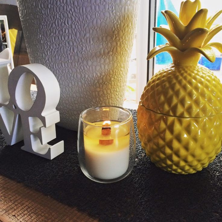 Double Glass Medium Size Soy Candle