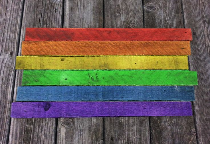 Rainbow Flag reclaimed Wood Sign / Pride Wall Art / Gay Pride Decor / Rainbow Wood Decor / LGBT / Equal Rights
