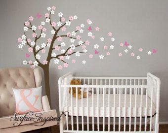 Kwekerij boom muur sticker. Cherry Blossom boom door SurfaceInspired