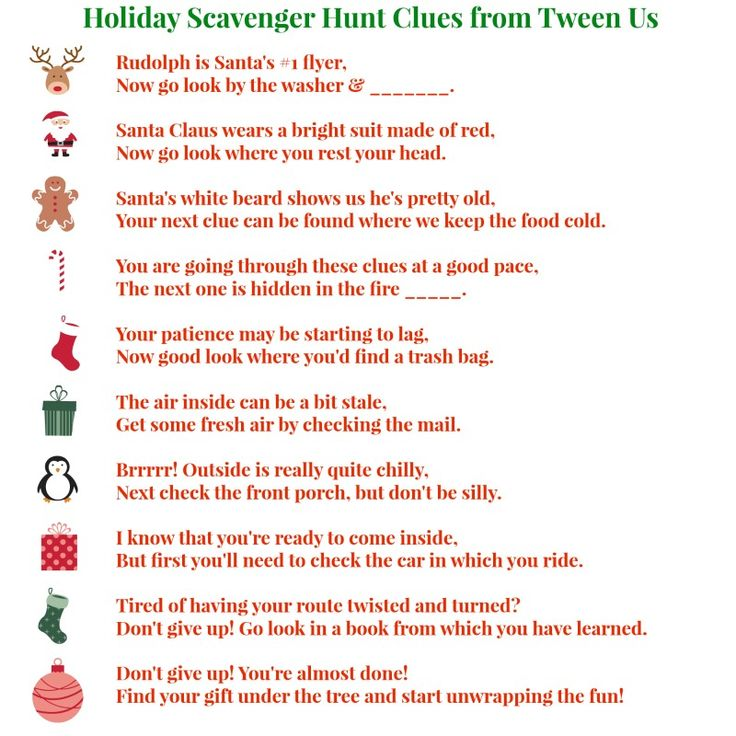 Christmas Gift Scavenger Hunt Riddles: 1000+ Images About Gifts For Tweens On Pinterest
