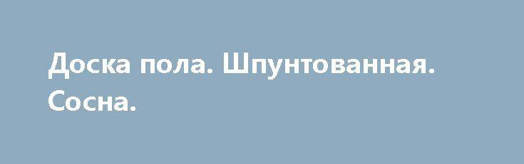 Доска пола. Шпунтованная. Сосна. http://brandar.net/ru/a/ad/doska-pola-shpuntovannaia-sosna/  Доска пола. Шпунтованная. Сосна. Немецкий станок. Размеры: 125*35*4000(4500)мм. Влажность 10-11 %.Качество продукции высокое. Всегда в наличии любое количество. Доставка по адресу без предоплаты.