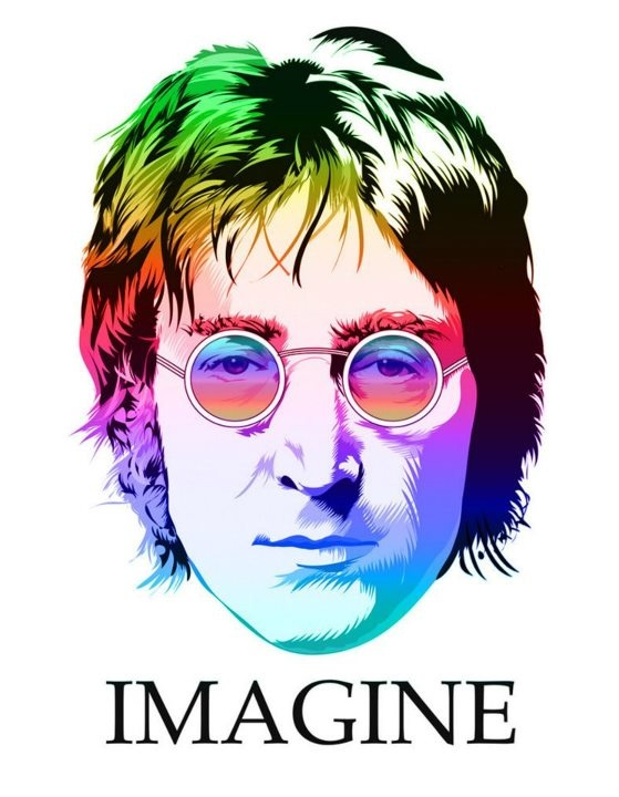 #Illustration Imagine | John Lennon Could do Jesus that would be a cool twist with Lennon glasses just for Major Stacy! :)
