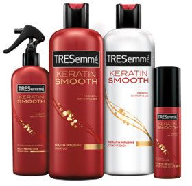 TRESemme Keratin Smooth Heat Activated Treatment. 7 day smooth. Simply activate with your flat iron to lock out frizz for a whole week.
