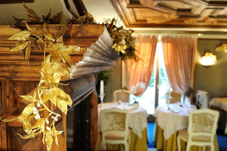 una cena romantica nella nostra sala da pranzo con un soffitto del 500 ....