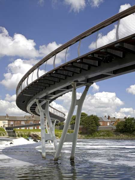Architects McDowell+Benedetti have completed Castleford Bridge at Castleford in West Yorkshire, England.