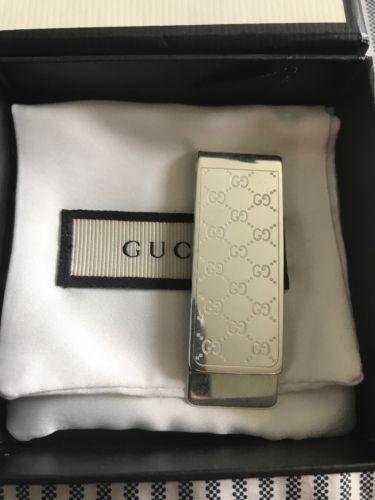 97d2d55fbbe GUCCI money clip sterling silver interlocking GG cash holder and wallet  (eBay Link)