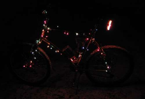 bd865f26f The Holiday Bicycle  How to Run Christmas Lights on Your Bike ...