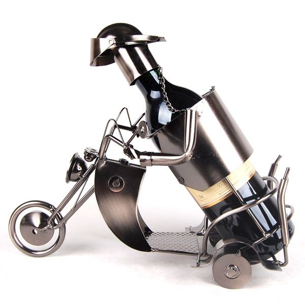 [gold supplier]  grocery handicrafts wine rack 1797 motorcycle Wrought iron crafts, metal crafts, , red wine, gifts, wine rack