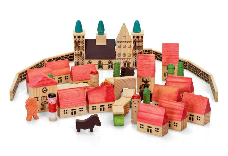 Toys That Start With B : Wooden village set smart start toys gifts little uns