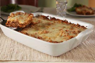 Cheesy Beef & Eggplant Lasagna Recipe - Kraft Recipes