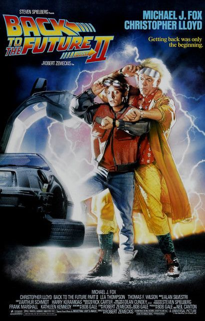 A great Back to the Future II movie poster! Marty McFly and Doc Brown don't need roads where they're going. Ships faster than you can say Flux Capacitor! 11x17 inches. Check out the rest of our awesom