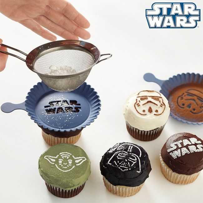 Star Wars Cupcake Stencils -  Great idea!