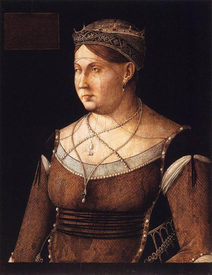 Gentile Bellini - Portrait of Caterina Cornaro, Queen of Cyprus - WGA1609.jpg