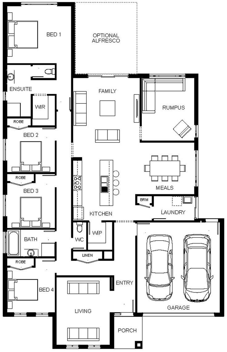 127 best House Plan images on Pinterest   House design, House floor ...